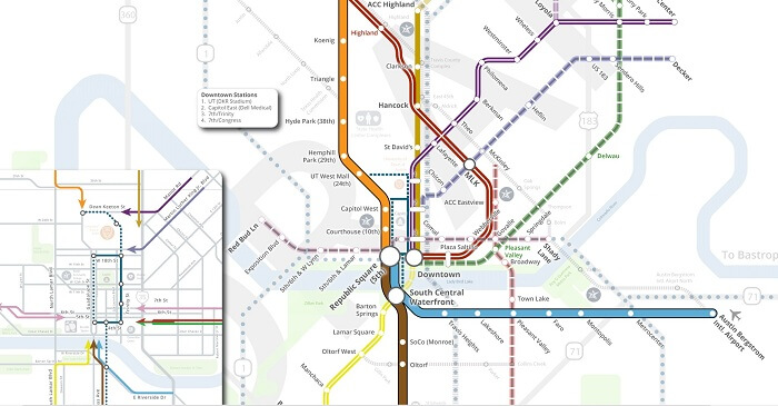 Capital Metro Map Project Connect